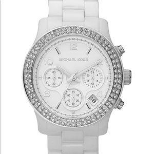 MK White Ceramic Crystal Watch